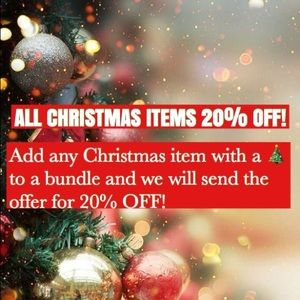 🎄ALL CHRISTMAS ITEMS 20% OFF!🎄